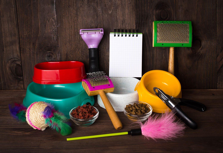 Inventaire d'accessoires pour animal de compagnie.
