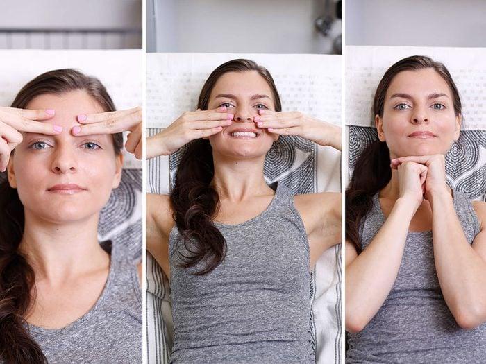 Ces exercices faciaux peuvent rajeunir votre visage.