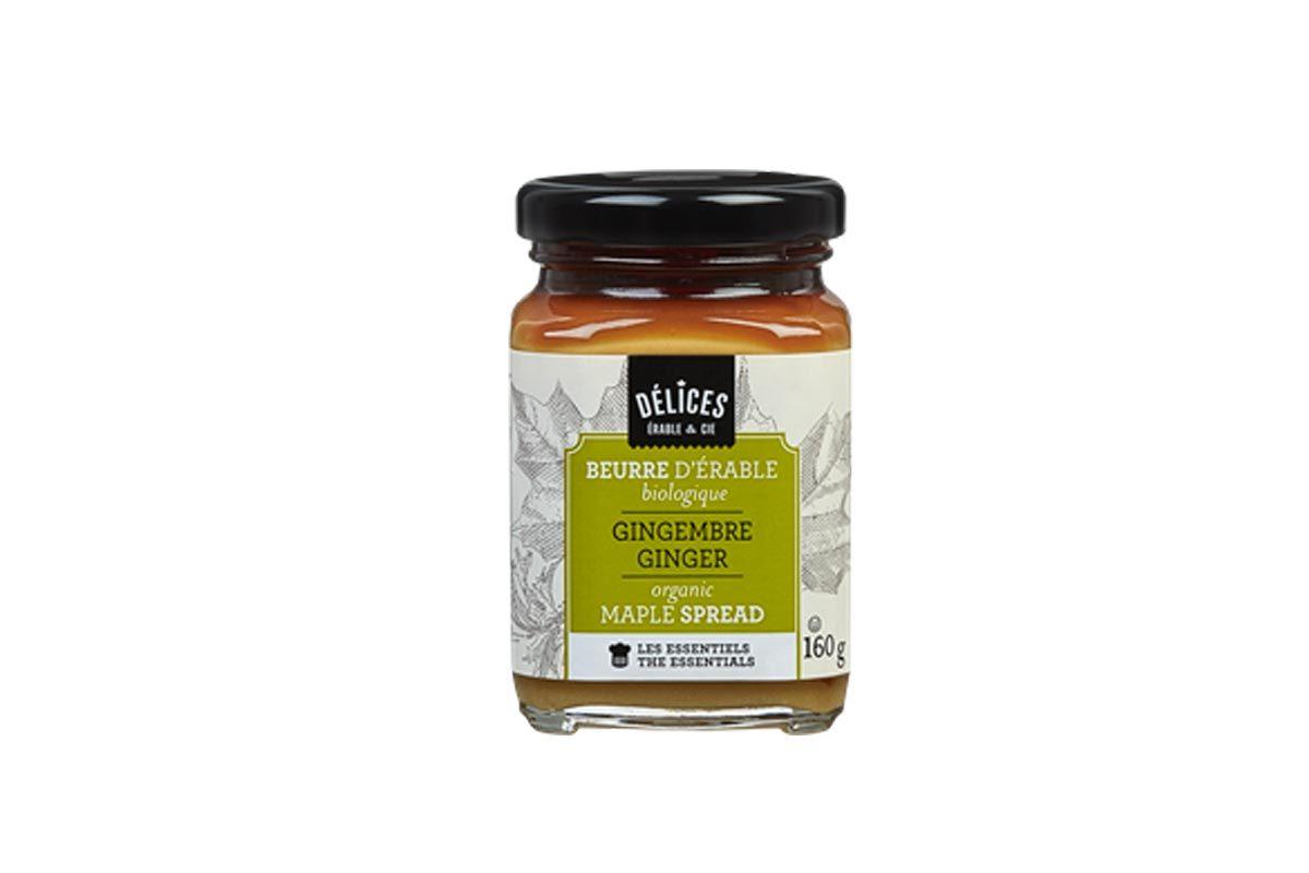 Produit d'érable : beurre d'érable au gingembre