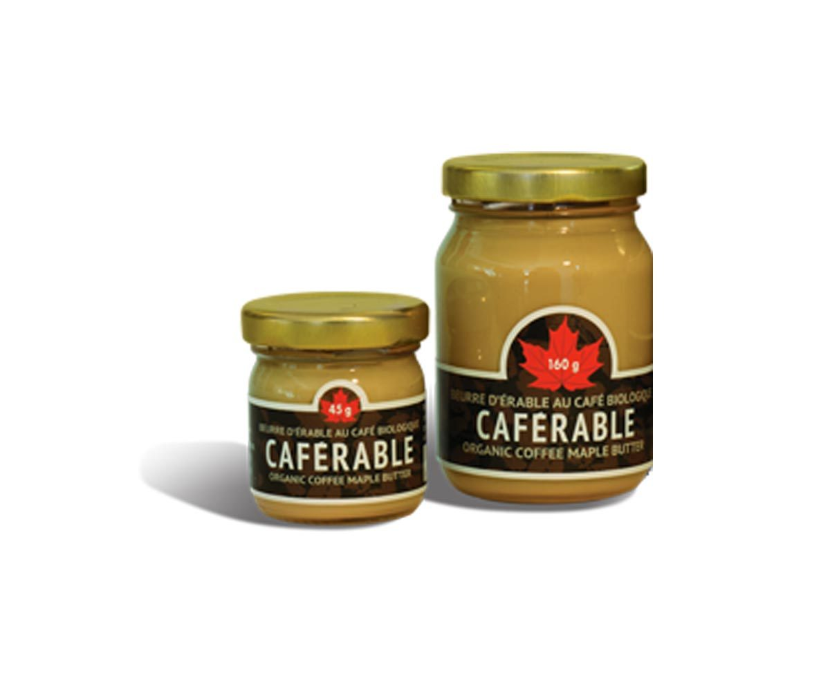 Produit d'érable : beurre d'érable au café