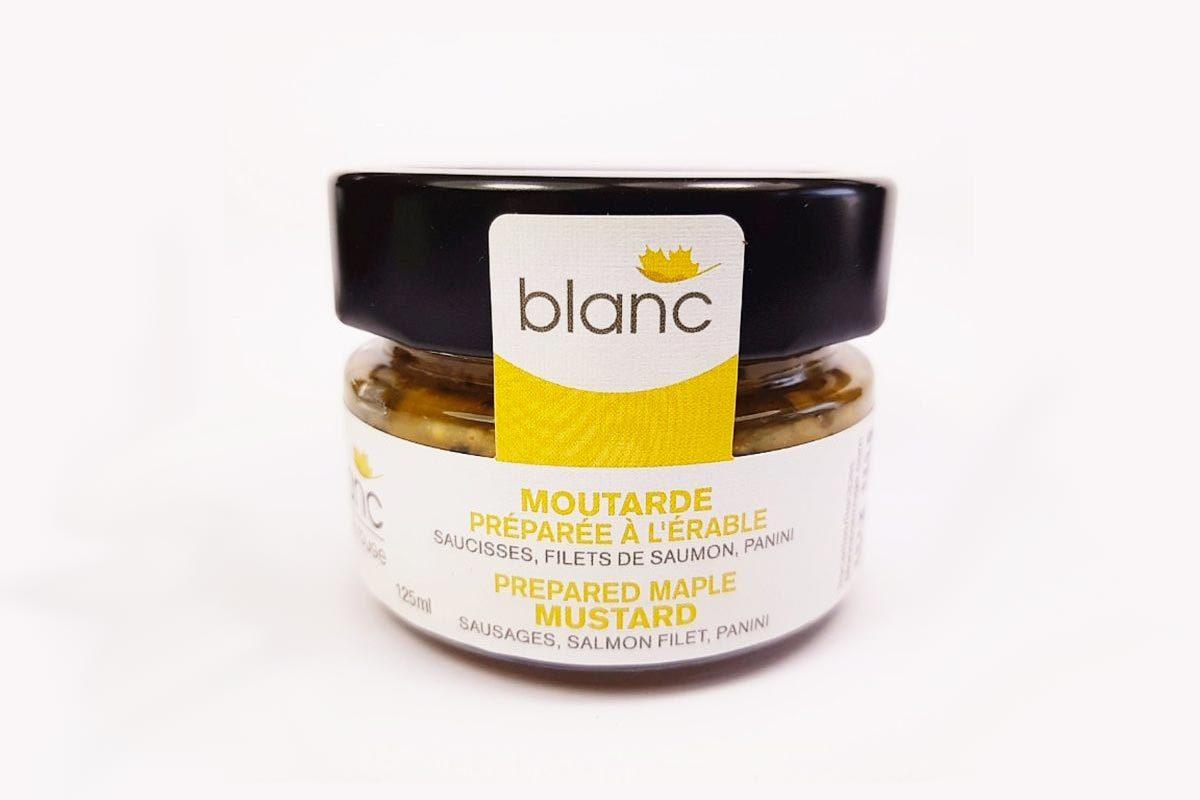 Produit d'érable : moutarde préparée à l'érable