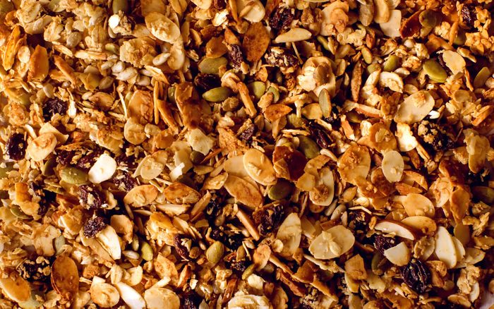 Photo pleine page de granola.
