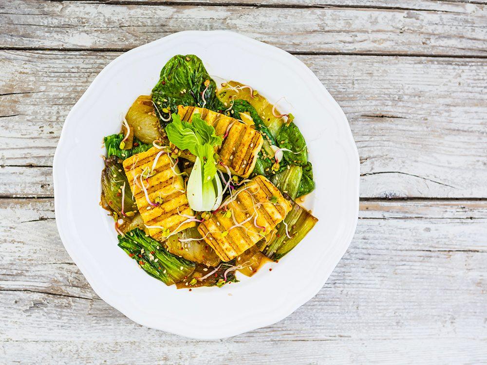 Recette de salade asiatique pak-choi.