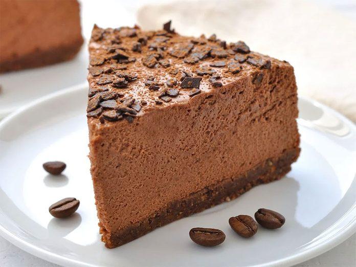 Un délicieuse tarte à la mousse au chocolat.