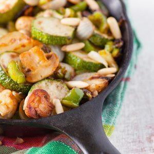Tofu et légumes à la sauce au sésame