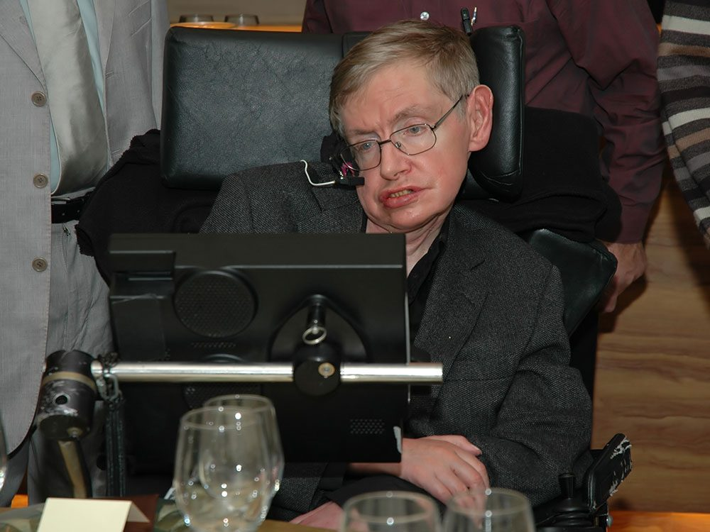 Photo de l'astrophysicien Stephen Hawking