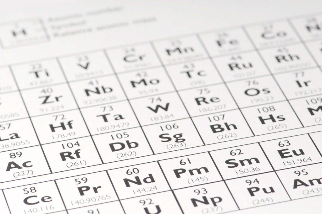 Une seule lettre n'apparaît pas dans le tableau périodique des éléments