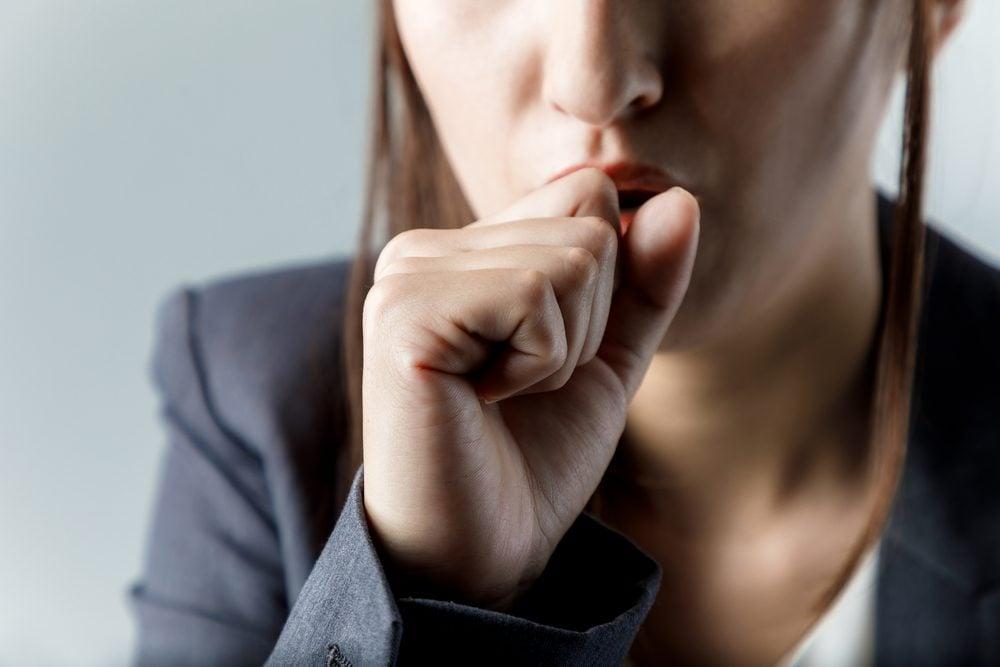 Vous pourriez avoir du mal à respirer si votre estomac n'est pas vide
