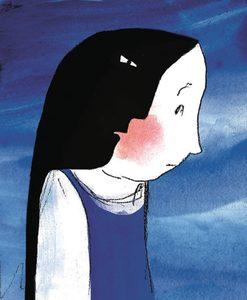 Illustration d'une petite fille triste.