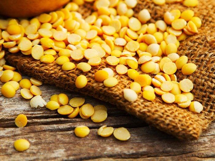 La protéine de soja est l'un des aliments à éviter.