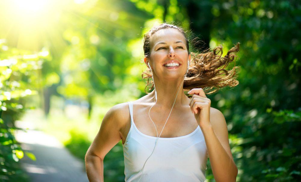 Courir met de bonne humeur.