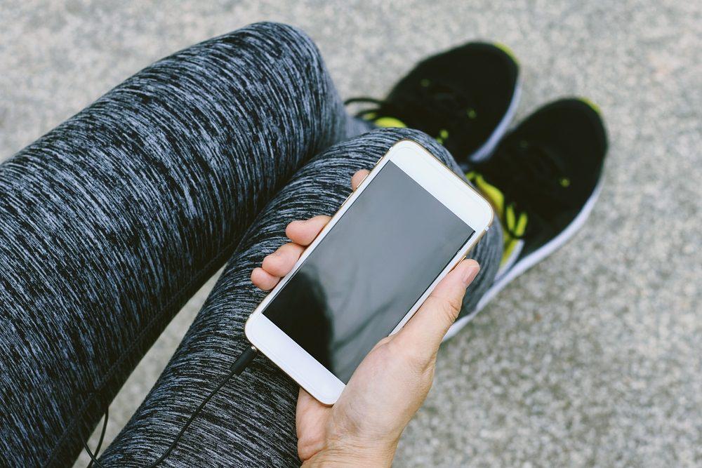 Courir avec son téléphone est plus sécuritaire.