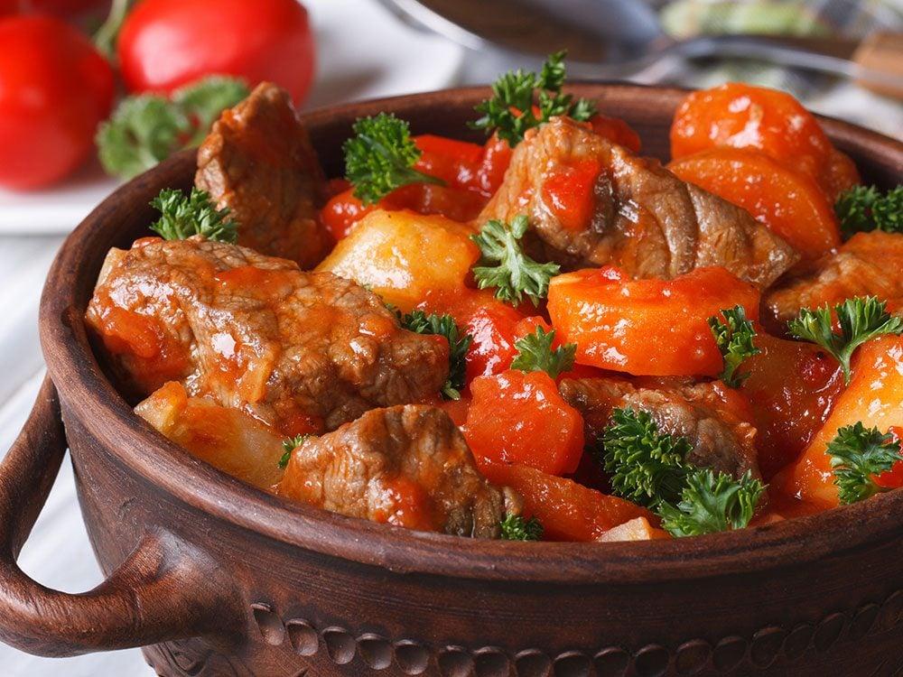 Ragoût de veau à la sicilienne, la recette.