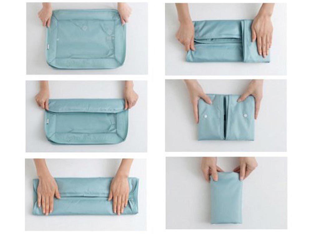 Comment faire sa valise: servez-vous des cubes de rangement.