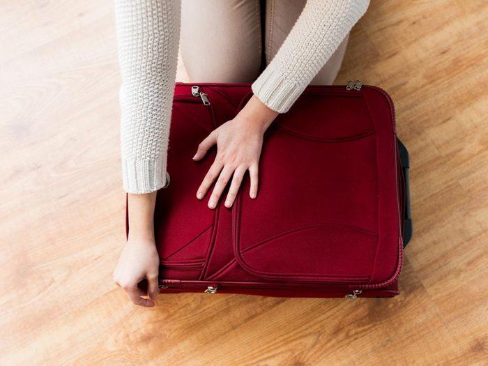 Comment faire sa valise: prenez de l'avance.
