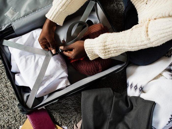 Comment faire sa valise: ne laissez pas d'endroit vide.