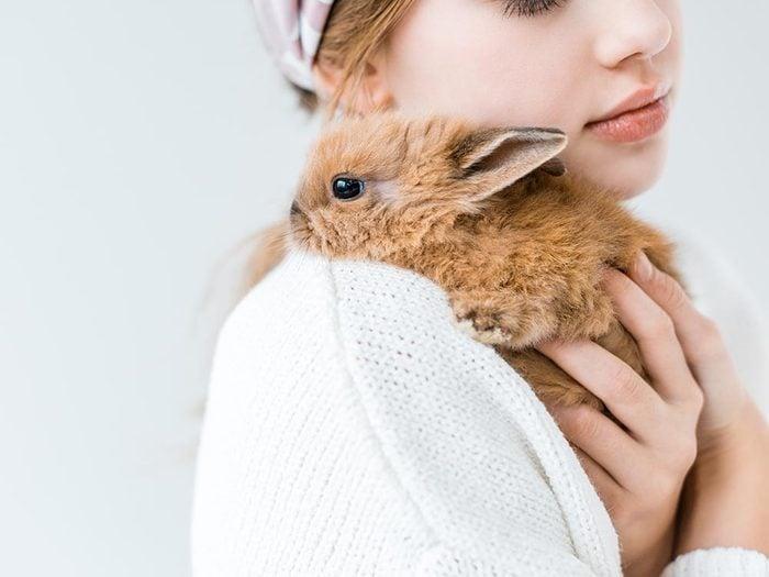 Comment s'occuper d'un lapin: apprenez à bien le soulever.