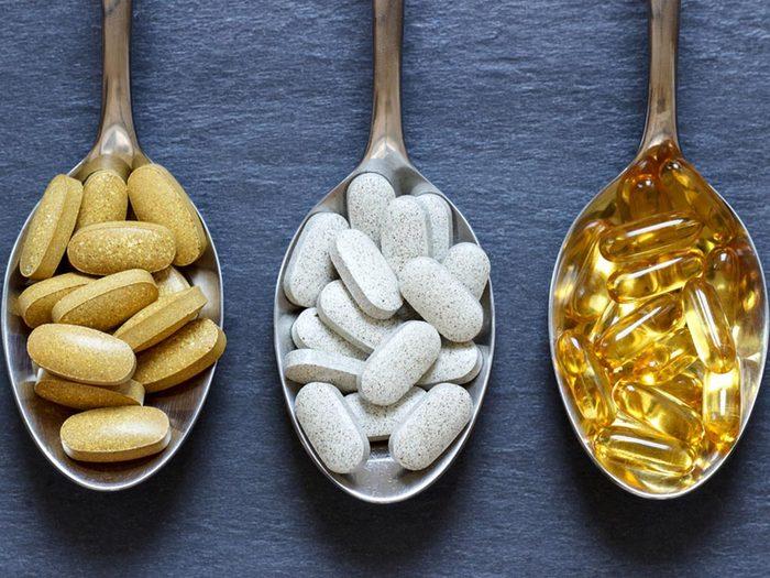 Mauvaises habitudes: ne prenez pas de suppléments de calcium.