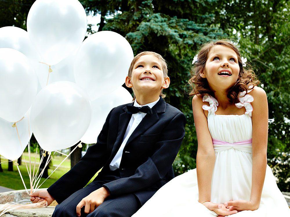 Pour un mariage réussi, vous avez le droit de ne pas inviter d'enfant.