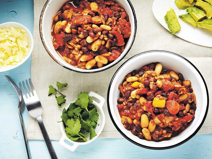 Recette minceur de chili aux haricots et à la tomate, pour maigrir sans vous priver