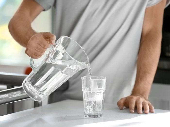Pour se détendre, buvez de l'eau