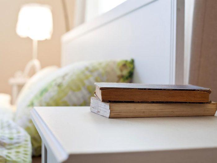 Pour se détendre la nuit, notez vos problèmes sur un carnet.
