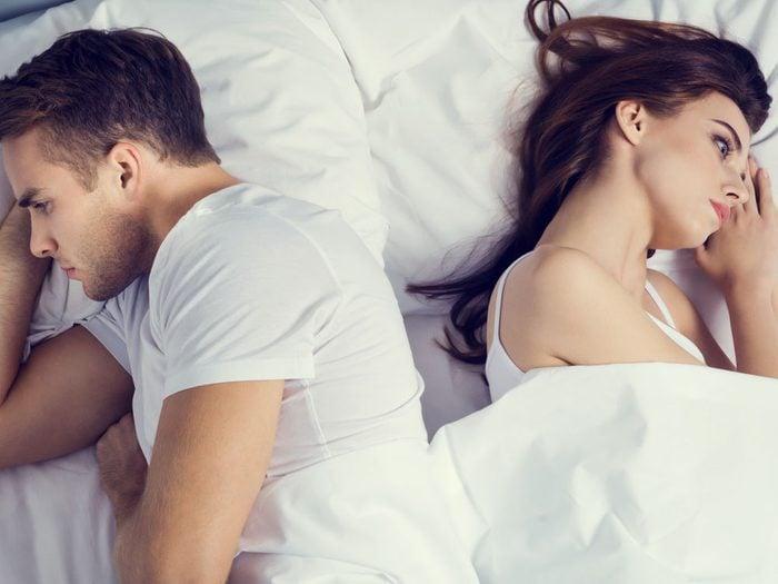 Sexe: les hommes refusent de faire l'amour car ils souffrent de dysfonction érectile.