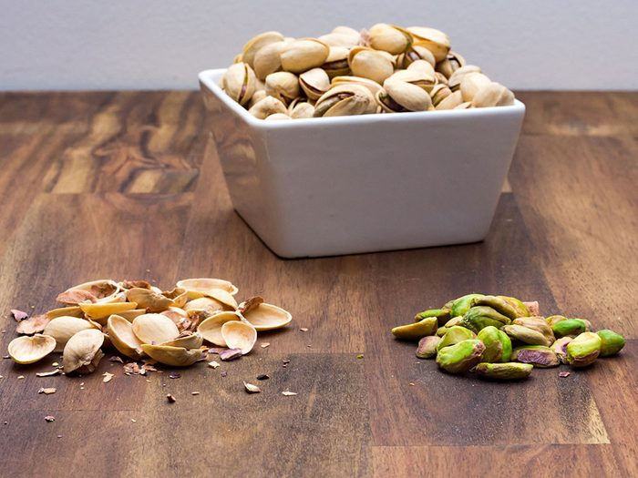 Vertus des noix: les pistaches sont riches en potassium.