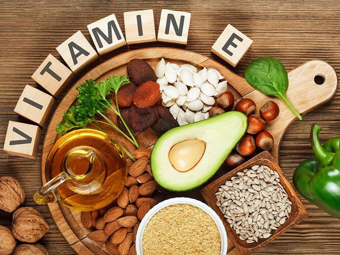 L'une des vertus des noix est leurs richesses en vitamine E.