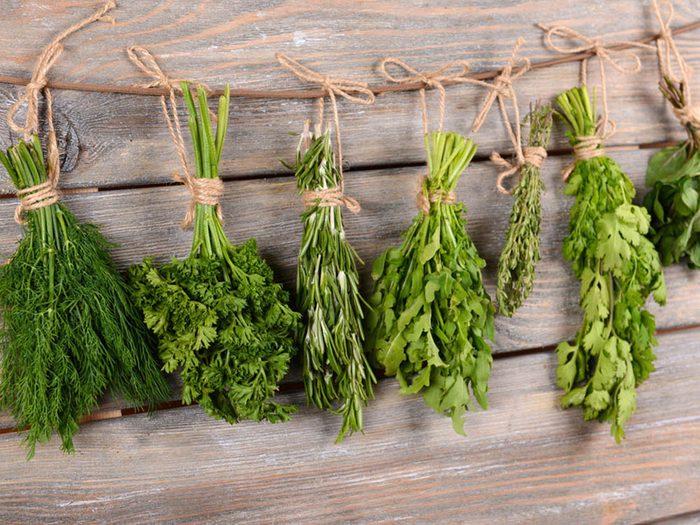 Prévenir le cancer par la consommation d'herbes aromatiques.