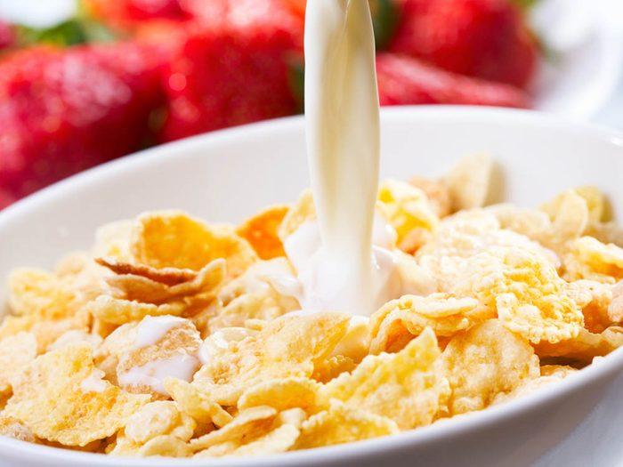 Désir sexuel: évitez les flocons de maïs pour ne pas baisser votre libido.
