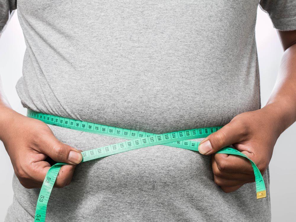Pour éviter d'engraisser: suivez un régime spécial.