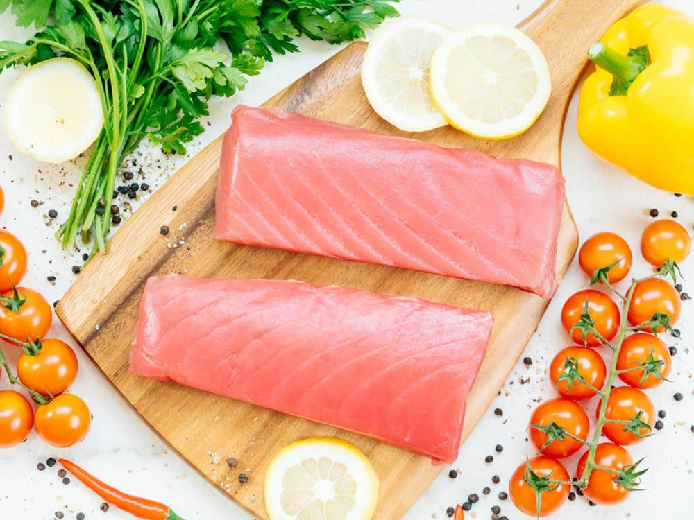 Le thon peut faire partie des faux aliments santé.Le thon peut faire partie des faux aliments santé.