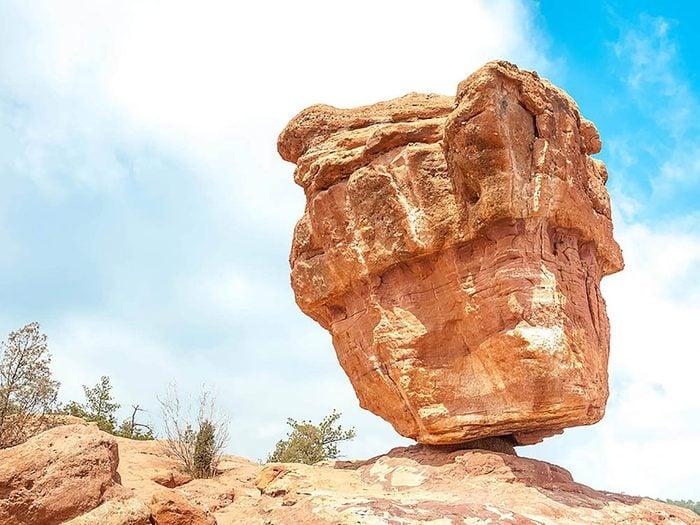 Formation rocheuse: la balanced rock tient en équilibre depuis plusieurs millions d'années.