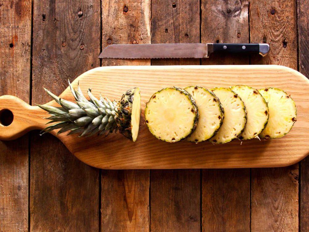 Si vous souffrez de la goutte, mangez de l'ananas.