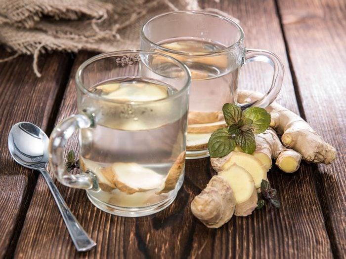 Utilisez le gingembre pour faire disparaitre un mal de tête.