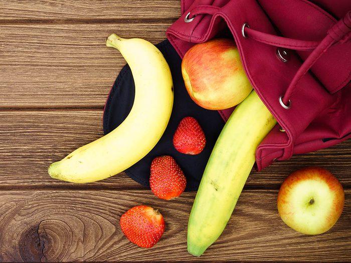 Pour manger des fruits plus souvent, assurez-vous de toujours en avoir à disposition.