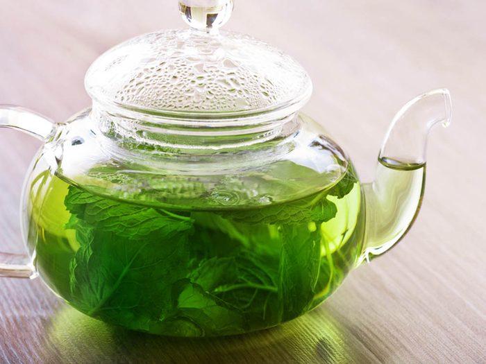 La menthe fraîche aide à soulager les maux d'estomac.