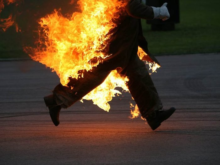 Mythe sur l'automobile: le kérosène risque d'incendier ma voiture.