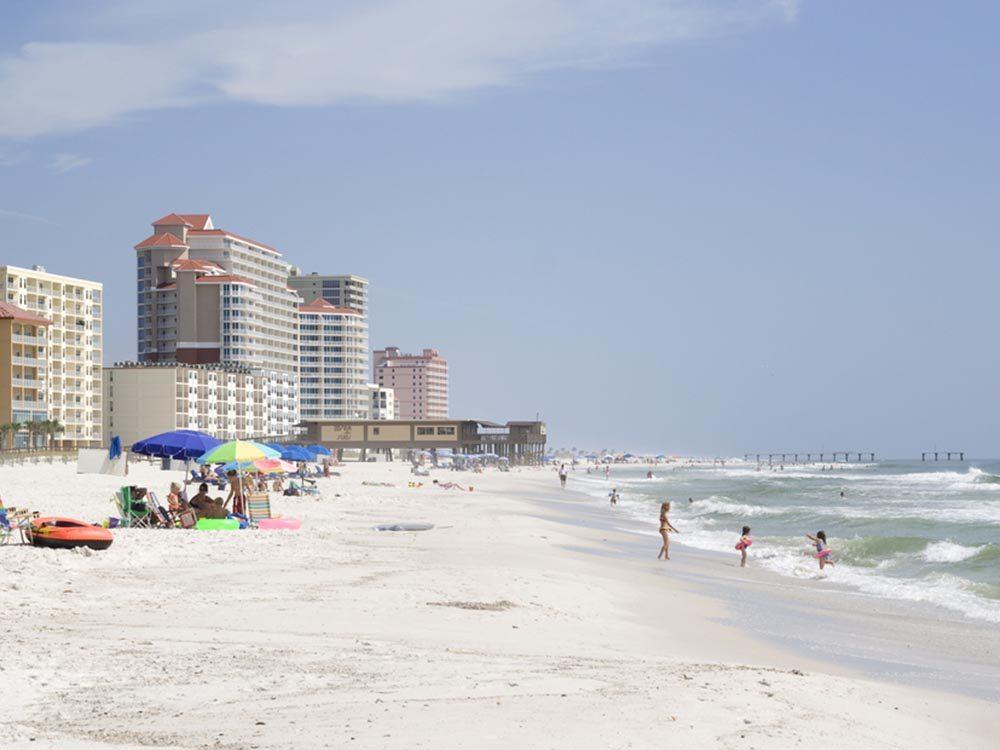Essayez les plages d'Alabama.