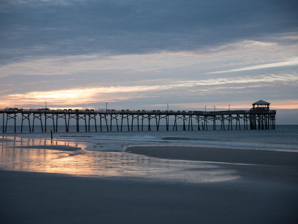 Essayez les plages de Caroline du Nord.