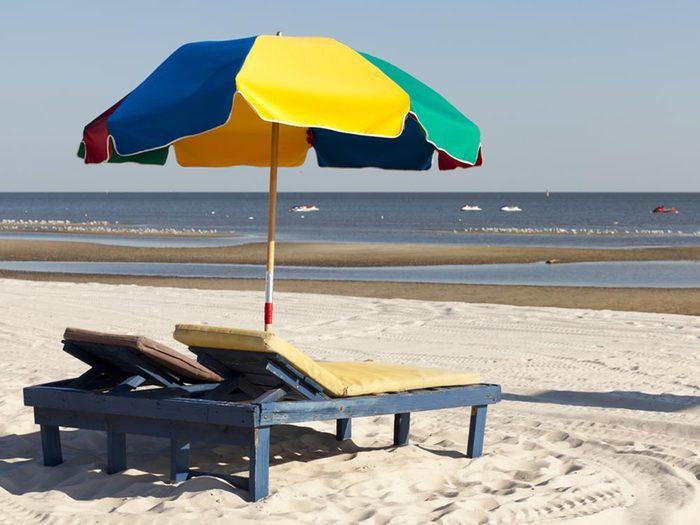Essayez les plages du Mississippi.