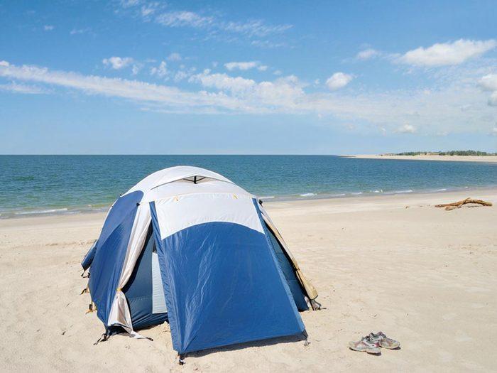Essayez les plages du Nebraska.
