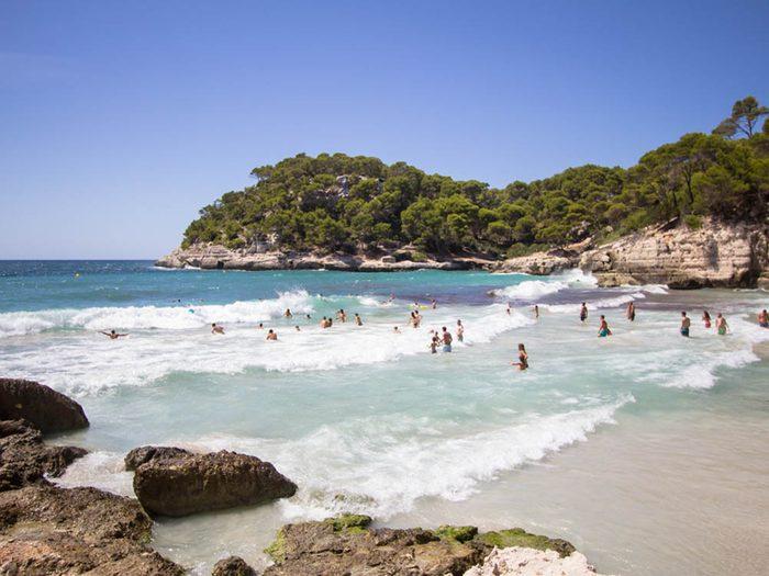 Plus belle plage du monde: Cala Mitjana.