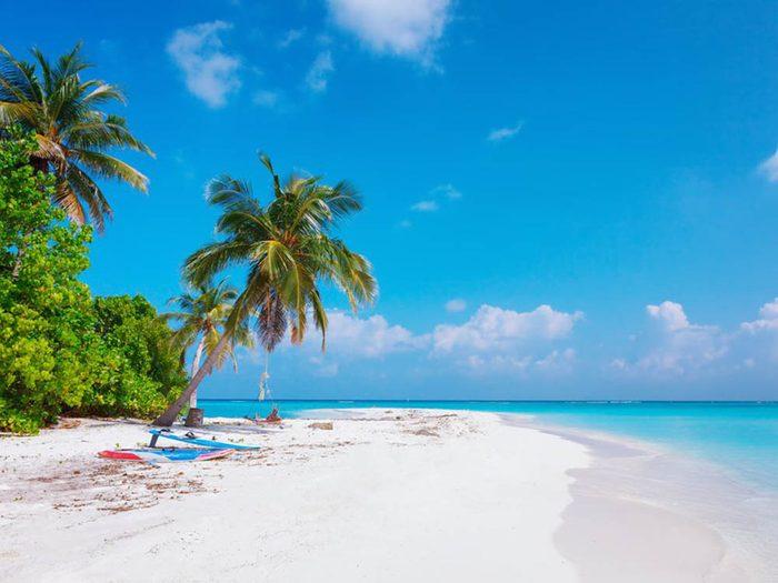 Plus belle plage du monde: Fulhadhoo Beach.