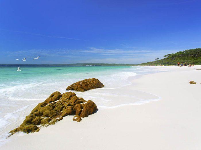Plus belle plage du monde: Hyams Beach.