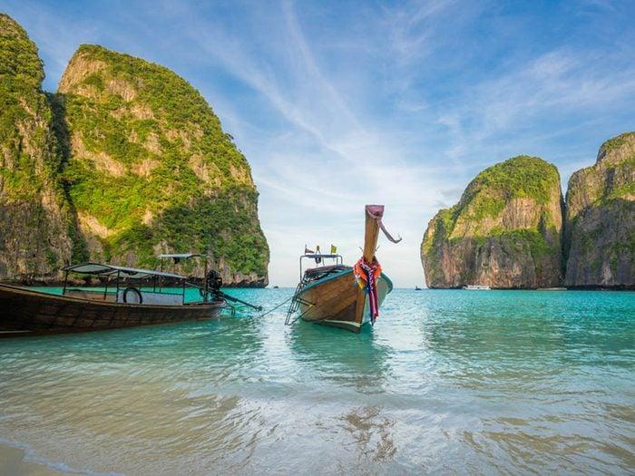 Plus belle plage du monde: Maya Bay.