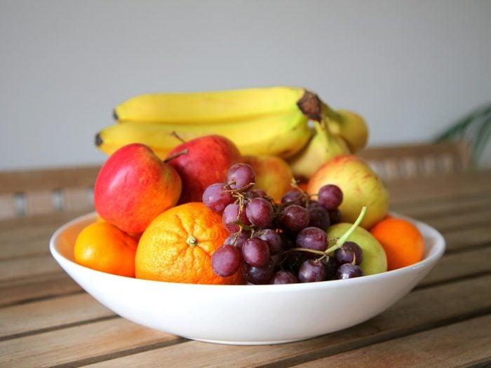 Portion alimentaire: pour moins manger, terminez le repas par un fruit.