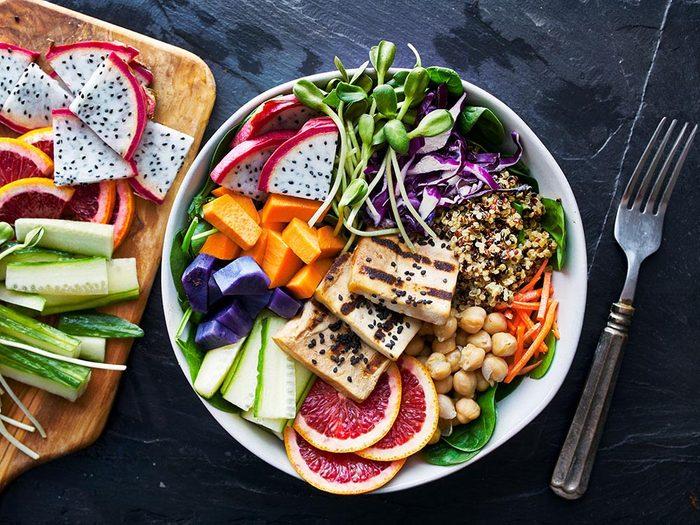 Portion alimentaire: remplissez votre assiette de légumes.