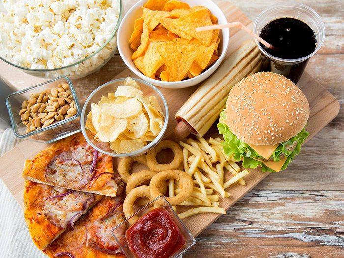 Portion alimentaire: réduisez la quantité.